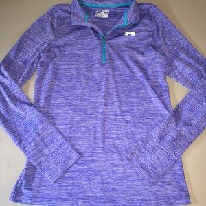 YXL under armour 1/4 zip dri fit shirt